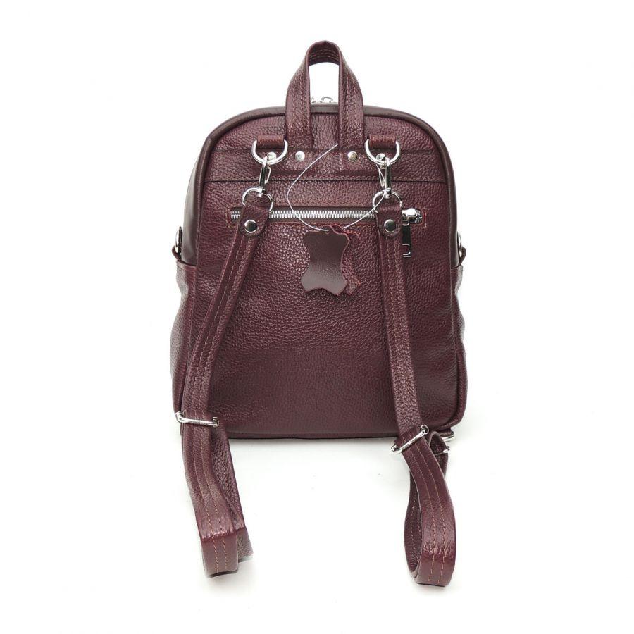 """Бордовый кожаный рюкзак сумка женский  """"Ланей"""""""
