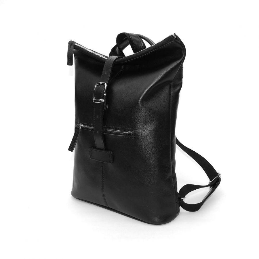 """Черная кожаная сумка-рюкзак  """"Айвери"""""""