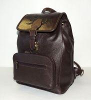 """Коричневый кожаный рюкзак  """"Джанга"""""""