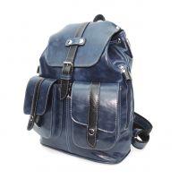 "Синий кожаный рюкзак  ""Друид"""
