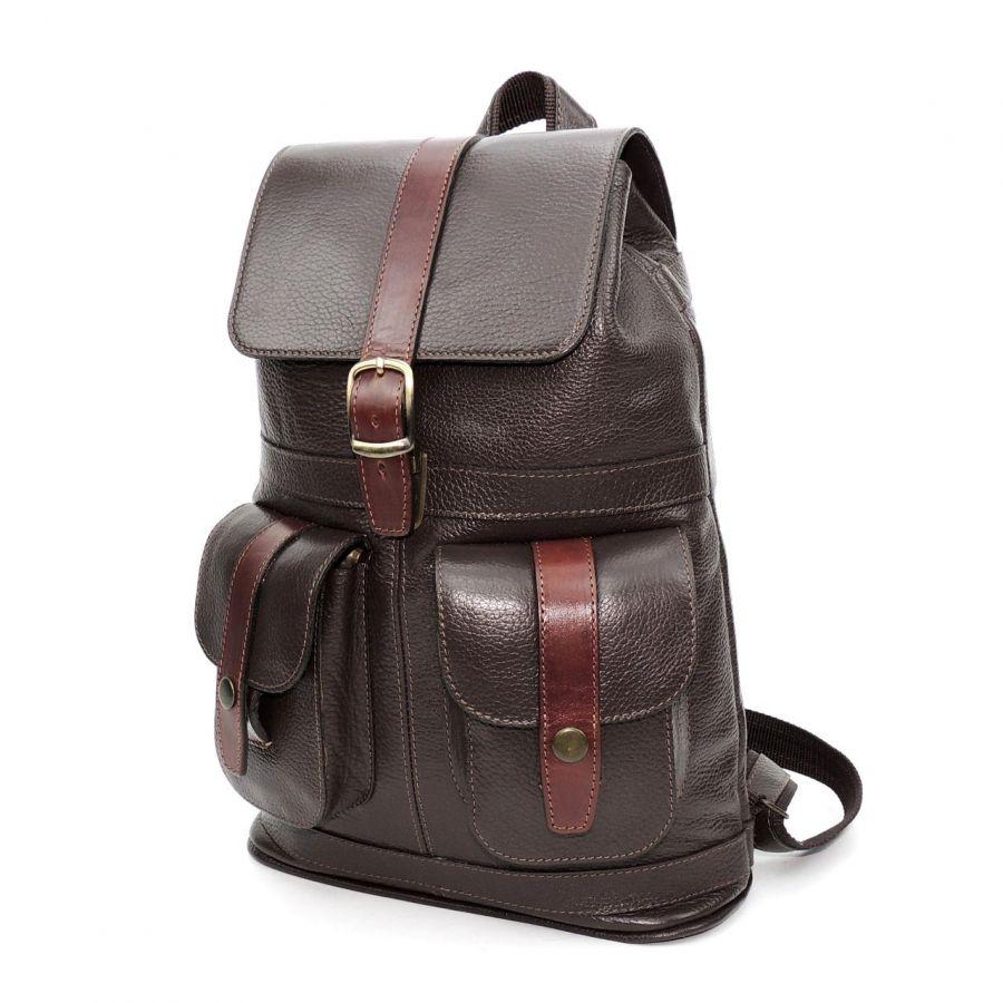 """Кожаный рюкзак коричневый  """"Кофе"""""""