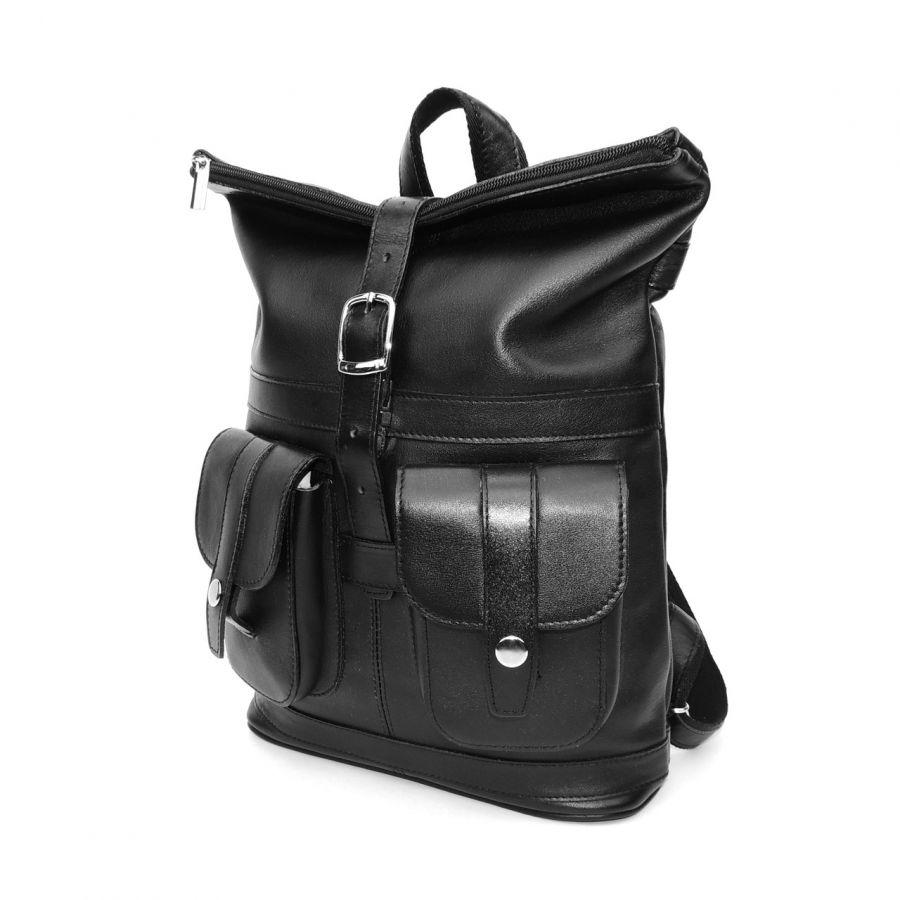"""Черный кожаный рюкзак  """"Гэбриэл"""""""