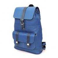 """Голубой кожаный рюкзак  """"Эйлат"""""""