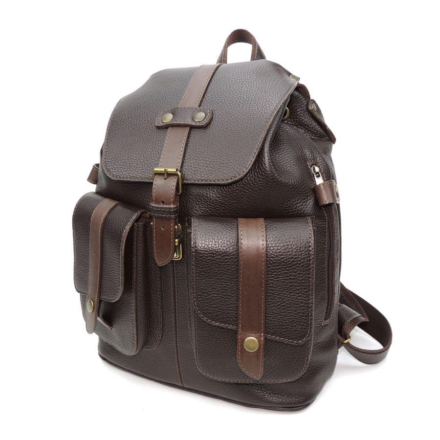 """Кожаный коричневый рюкзак  """"Эльбрус"""""""
