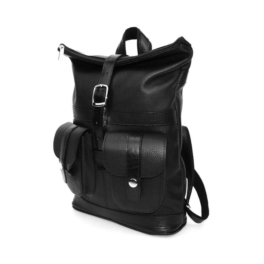 """Черный кожаный рюкзак  """"Марина"""""""