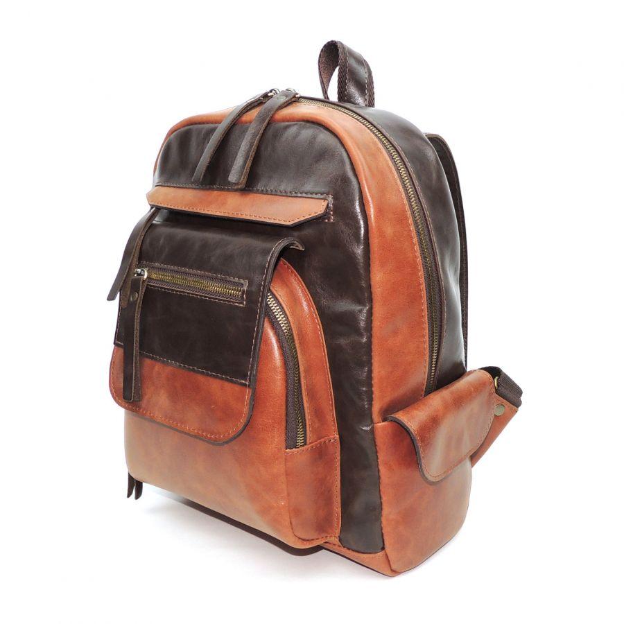 """Коричнево-рыжий кожаный рюкзак  """"Нисса"""""""