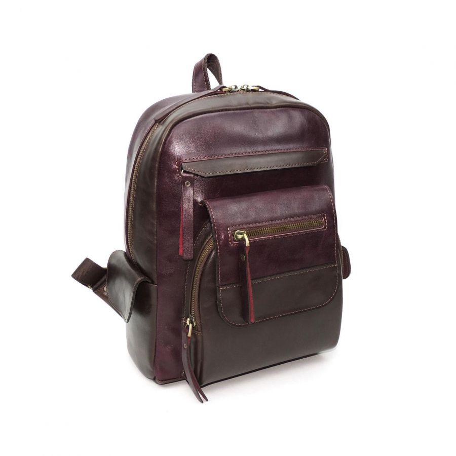 """Бордовый кожаный рюкзак  """"Одри"""""""