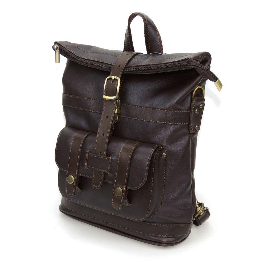 """Сумка-рюкзак кожаная коричневая  """"Севилья"""""""