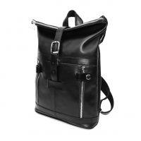 """Городской кожаный рюкзак черный  """"Ирма"""""""