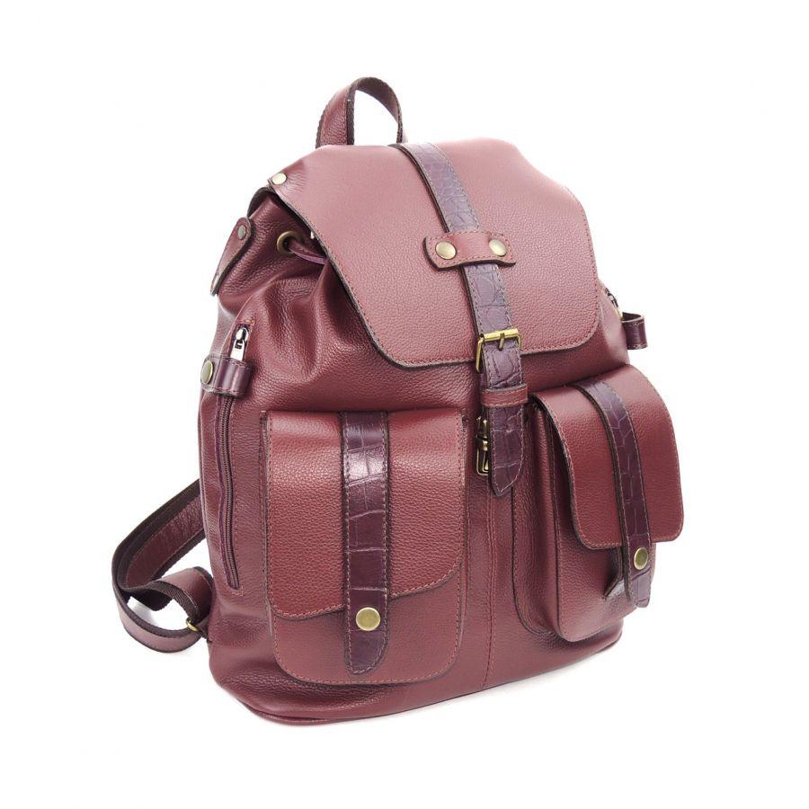 Мужской кожаный рюкзак Topaz
