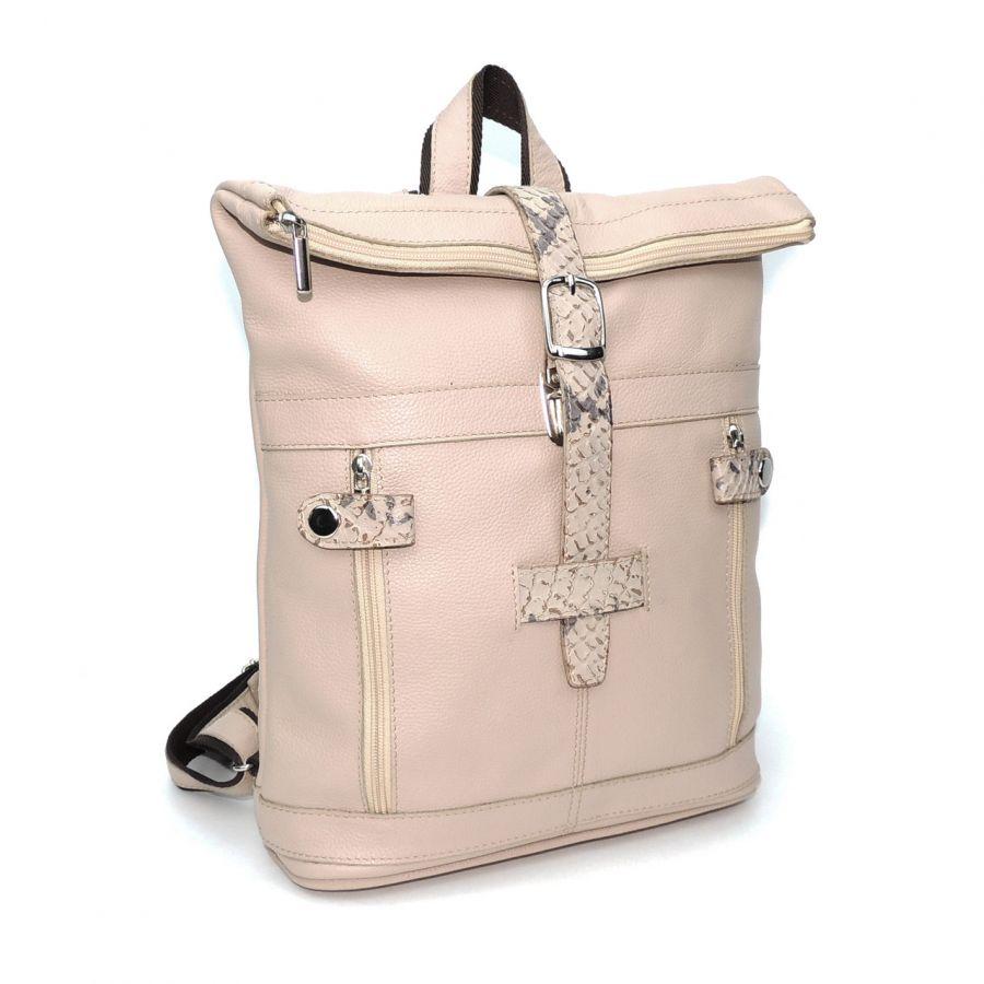 """Розовый кожаный рюкзак  """"Пастила"""""""