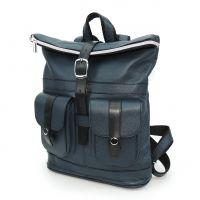 """Синий кожаный рюкзак  """"Инесс"""""""