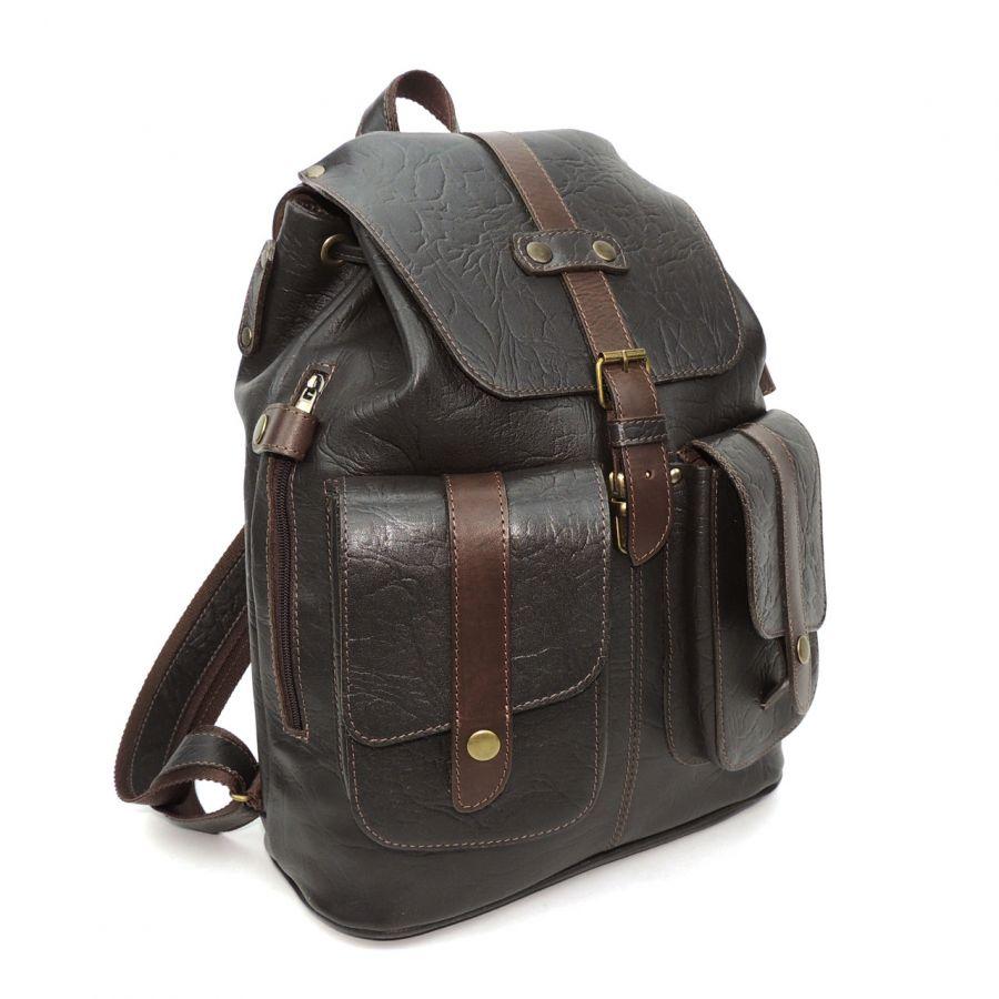 Кожаный коричневый рюкзак Legioner
