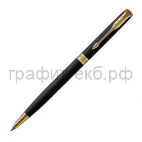 Ручка шариковая Parker Sonnet Core Slim Matte Black GT черная матовая  К428 1931520