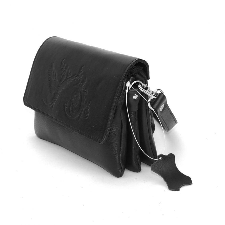 """Черная женская кожаная сумка  """"Мальта"""""""