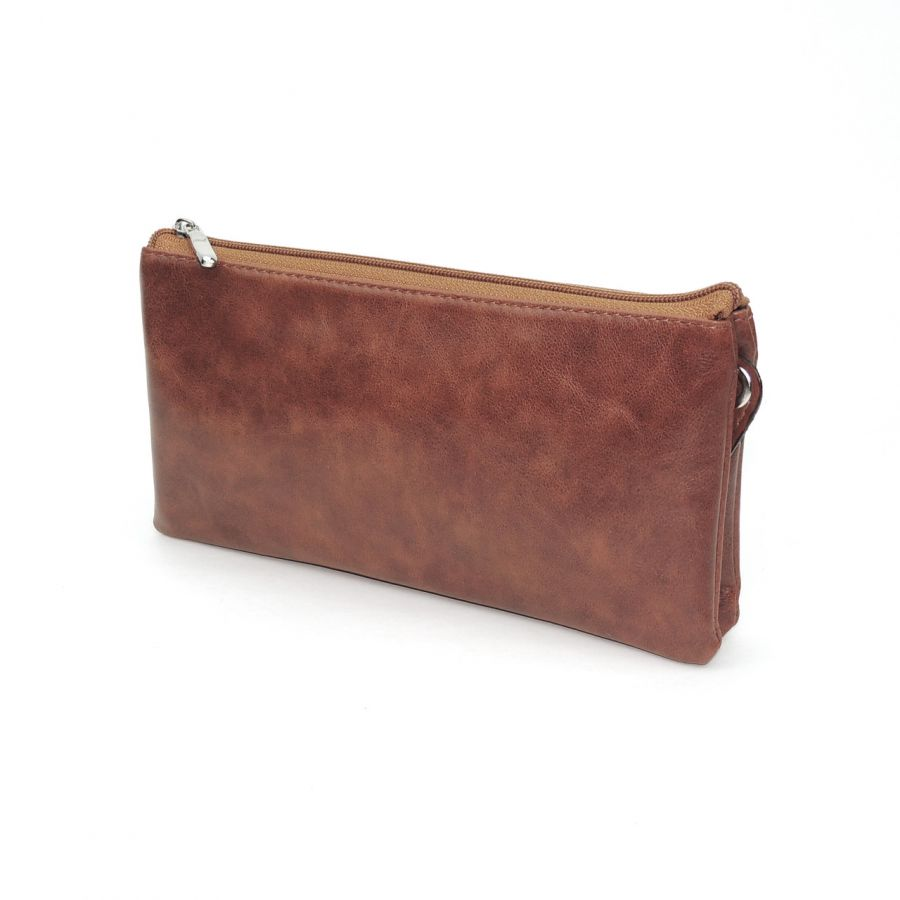 """Рыжая женская кожаная сумка  """"Лора"""""""