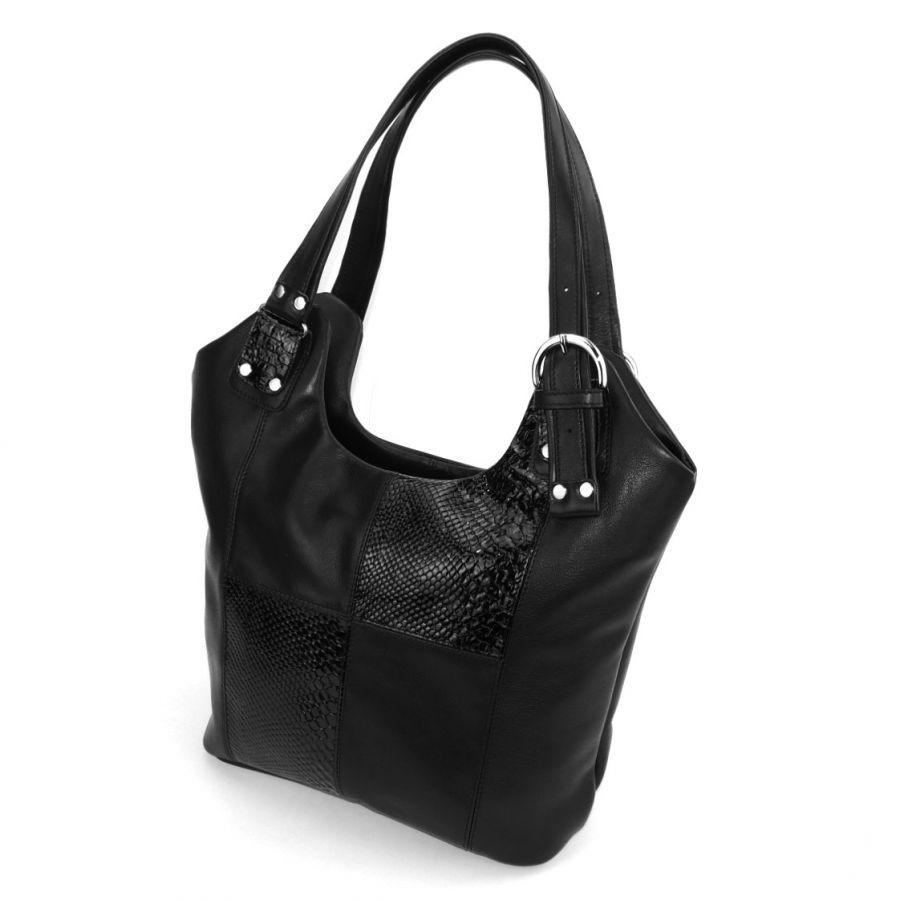 """Черная женская кожаная сумка  """"Марлен"""""""