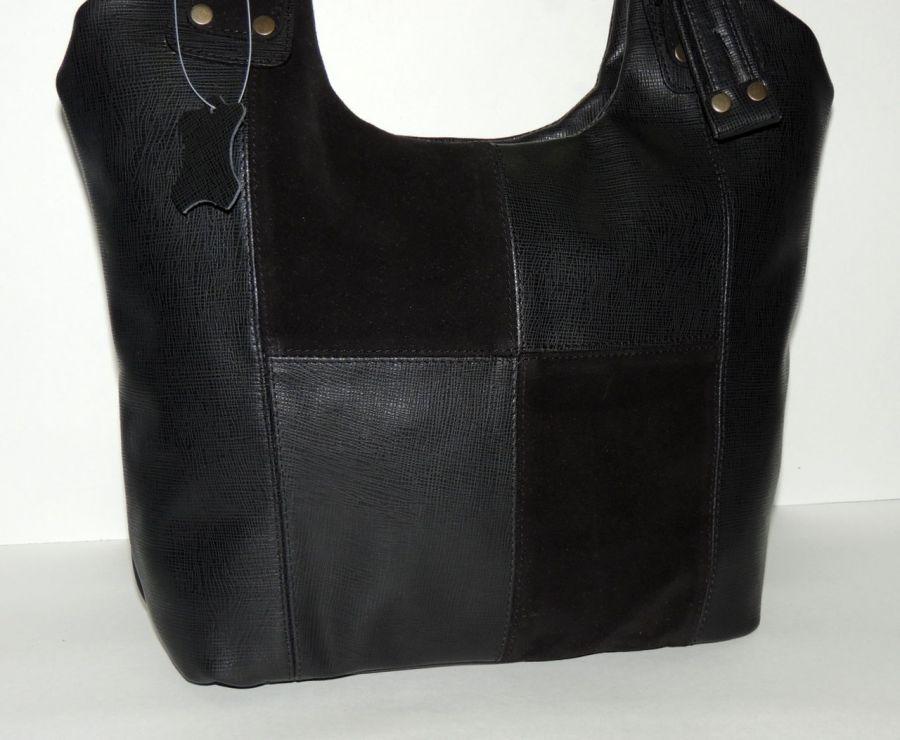 """Черная женская кожаная сумка  """"Милен"""""""