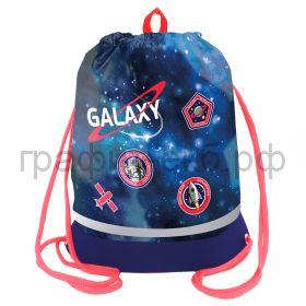 """Сумка для обуви Berlingo 40х51см """"Galaxy"""" расш.дно, светоотр.полоса, карман на молнии MS09446"""