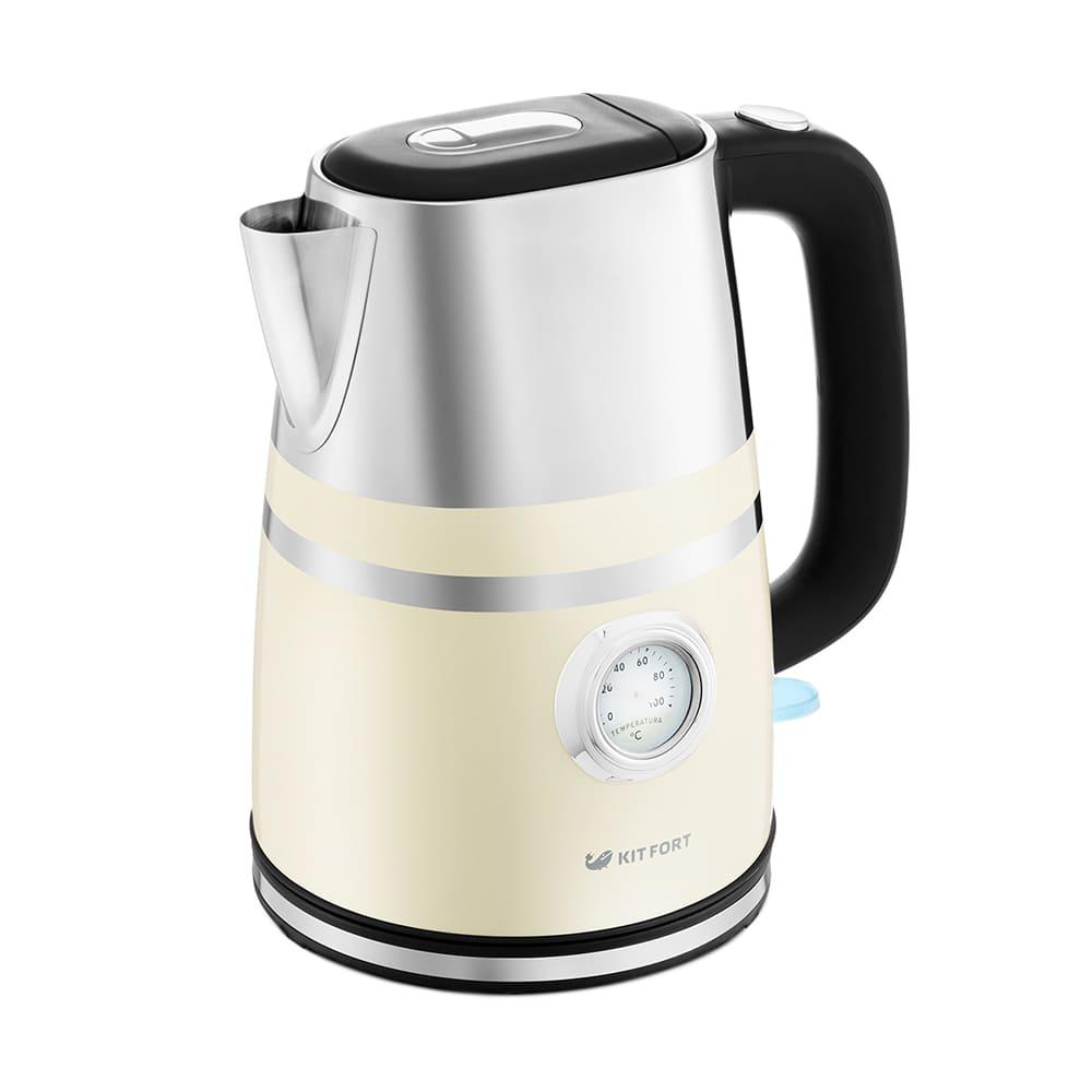 Чайник KitFort KT-670-3 (бежевый)