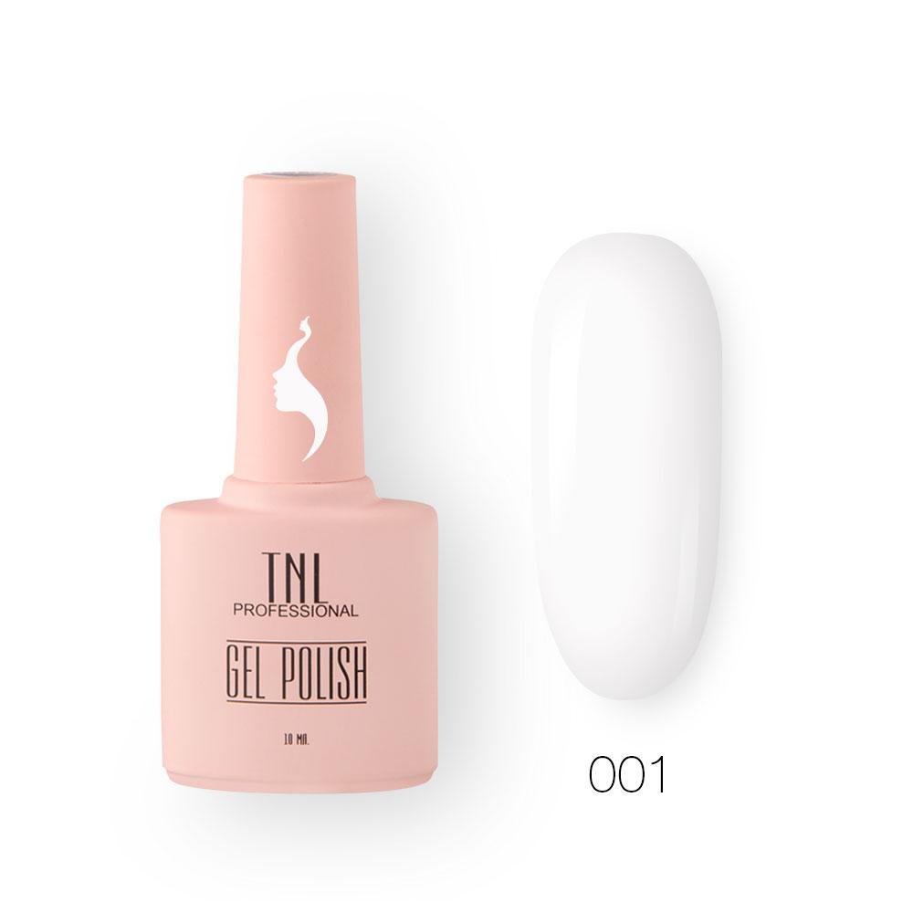 Гель-лак TNL 8 Чувств №001 - белоснежный (10 мл.)