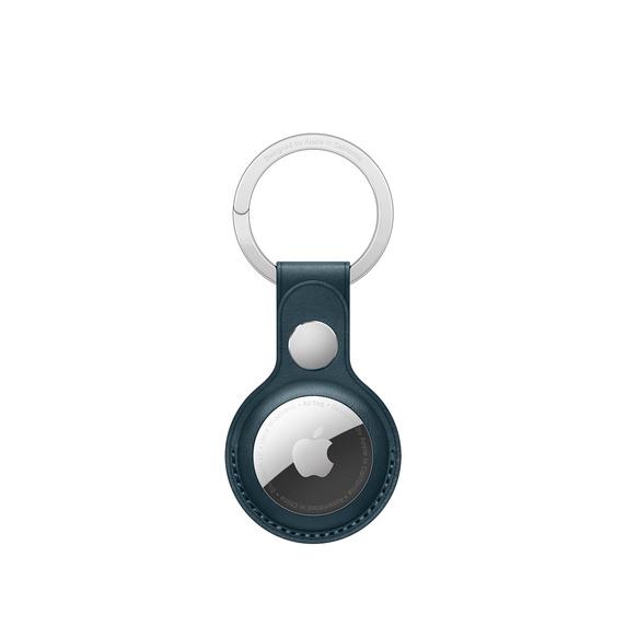 Кожаный брелок для AirTag с кольцом для ключей