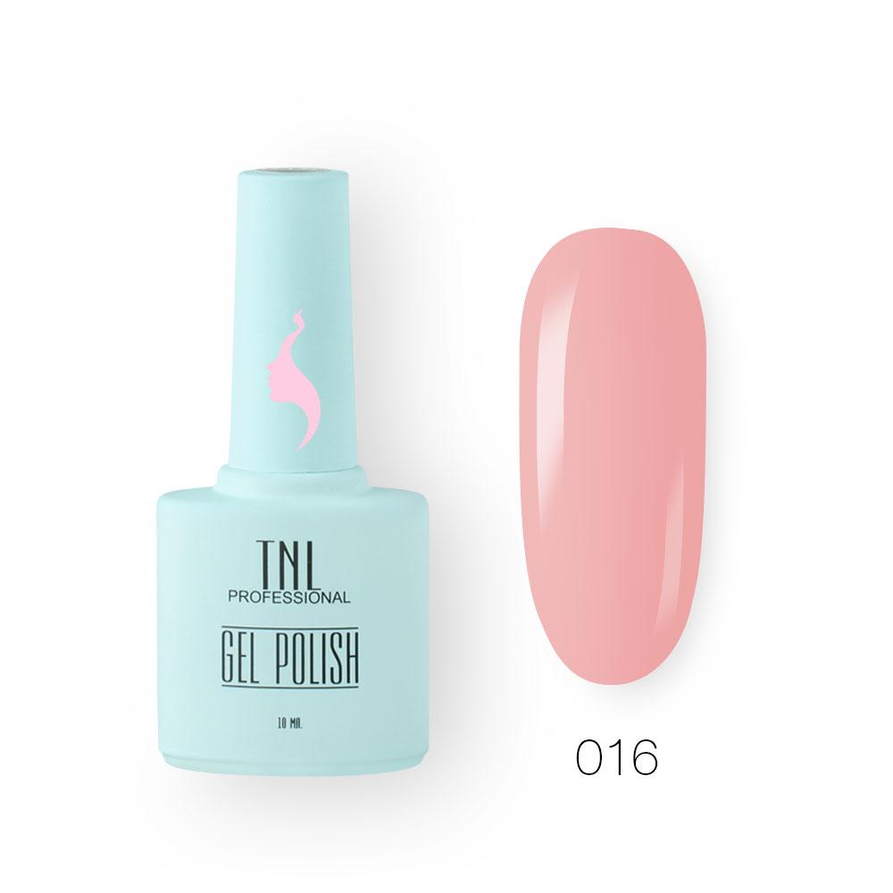 Гель-лак TNL 8 Чувств №016 - турецкий розовый (10 мл.)