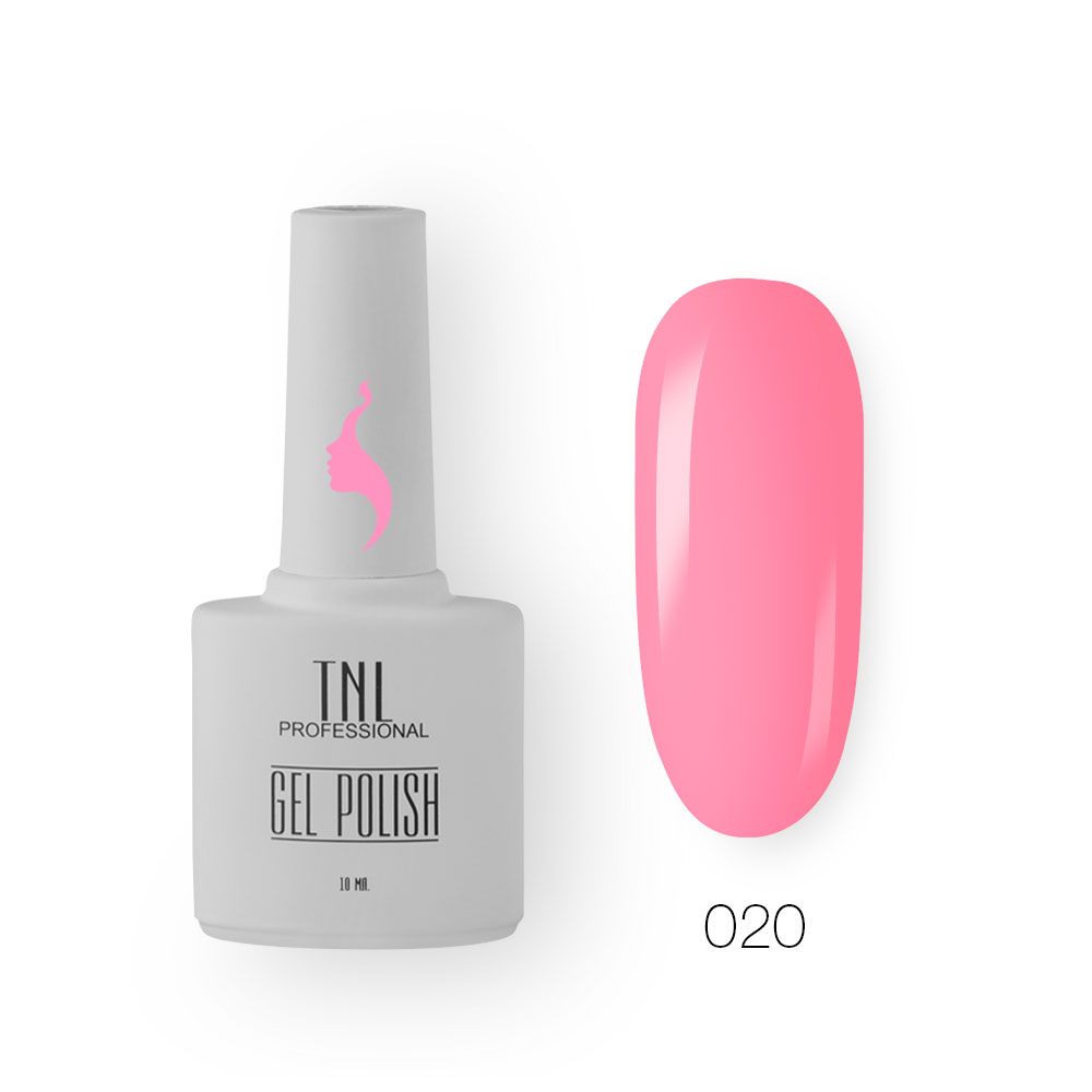 Гель-лак TNL 8 Чувств №020 - розовая азалия (10 мл.)