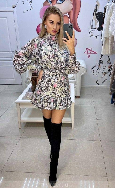 Коллекционное шифоновое платье ZIMMERMAN