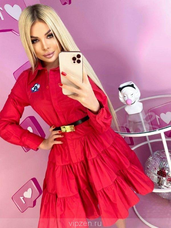 Нежное люксовое платье - рубашка