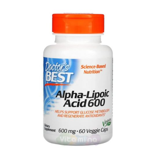 Doctor's Best Альфа-липоевая кислота 600 мг, 60 капсул