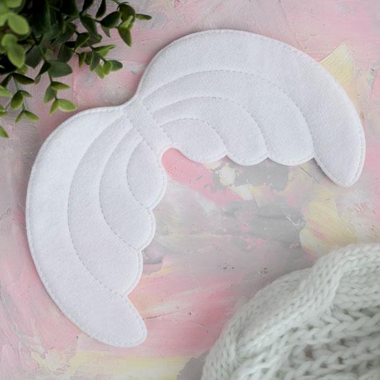 Кукольный аксессуар - Крылья ангела большие белые 21,5 * 14,5 см.