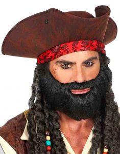 Борода черная окладистая