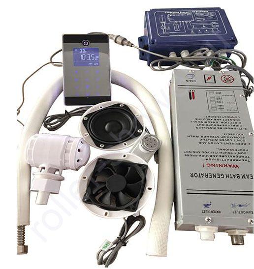 Парогенератор для душевой кабины Bluetooth/MP3/USB/touch screen полный комплект