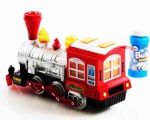 Музыкальный поезд со светом и мыльными пузырями