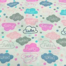 Ткань с облаками (cute, happy, dream)