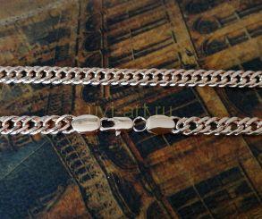 Позолоченный браслет, двойной ромб, 7 мм (арт. 250180)