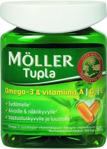 Витамины Moller Tupla Omega 3 (100 капсул)