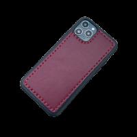 Кожаный чехол-накладка на телефон