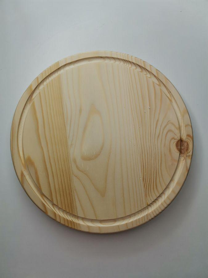 Доска, круглая с фаской, массив сосны, 25 см, брак