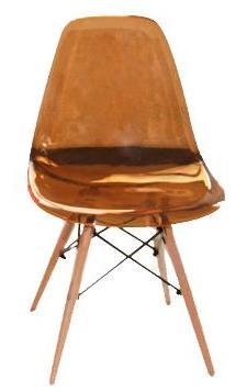 Стул Eames прозрачный янтарный