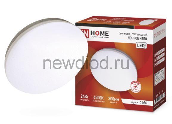 Светильник светодиодный серии DECO 24Вт 230В 6500К 1560лм 300х55мм НОЧНОЕ НЕБО IN HOME