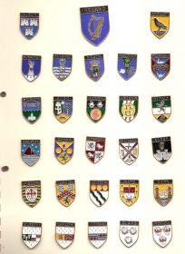 Набор значков Ирландия (27 знака Провинций+Герб)