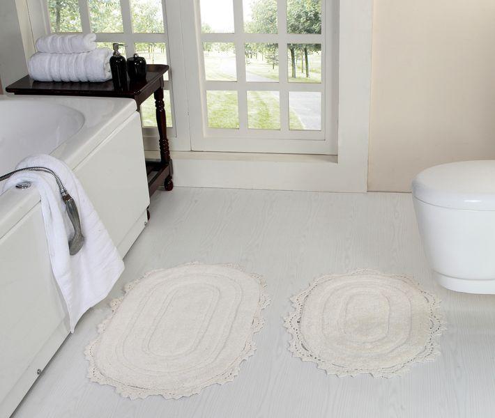 Коврик для ванной Олдман (молоко) Кружево 50х80