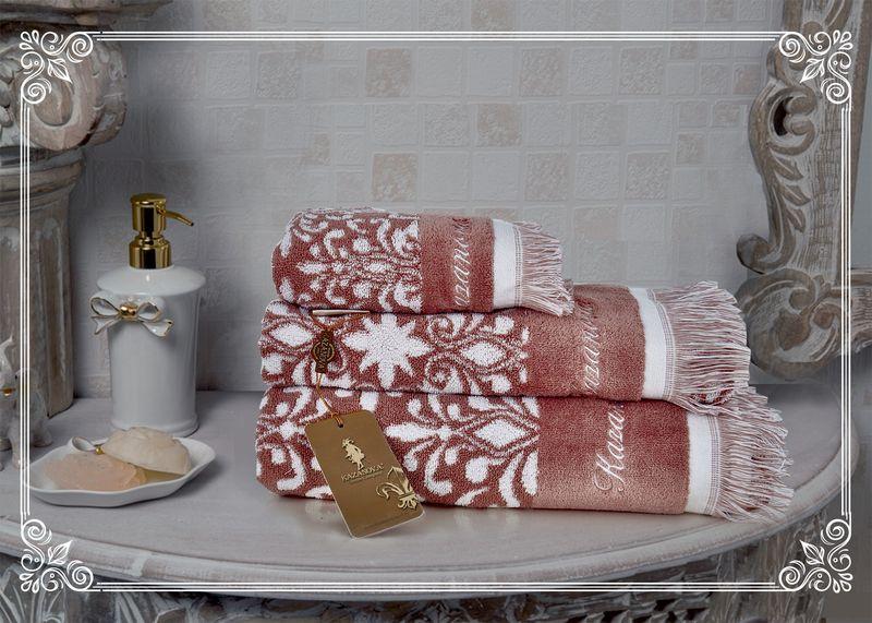 К-т полотенец Undina (розовая пудра) 30х50см(3)