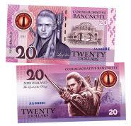 20 dollars (долларов) - Леголас. Властелин колец. Новая Зеландия (Legolas. New Zeland). 2021 UNC