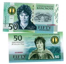 50 dollars (долларов) - Фродо. Властелин колец. Новая Зеландия (Frodo Baggins. New Zeland). 2021 UNC