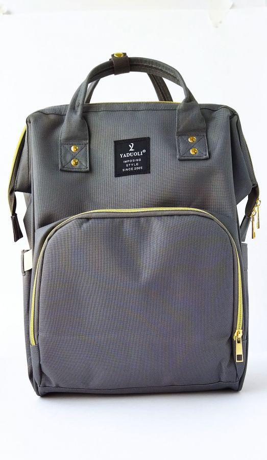 Рюкзак для мам с USB портом графит