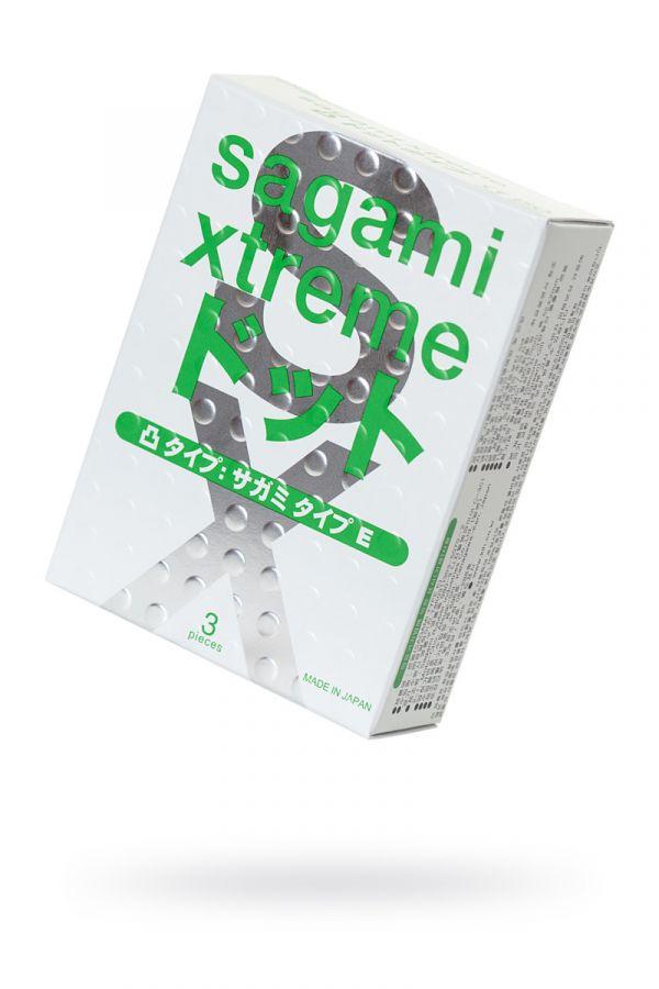 Презервативы латексные рельефные SAGAMI XTREME TYPE-E №3