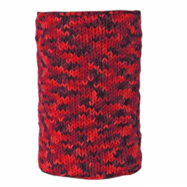 Зимний шарф-труба цвета Кармин